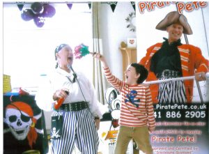 Pirate Pete Children's Entertainer's Home Party