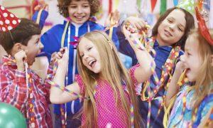 Showing children having fun at a magic show