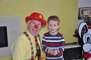 Child friendly Mr Giggles Magician With Birthday child.
