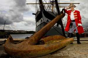 Pirate Pete at SS Glenlee, Riverside Museum, Glasgow, Scotland