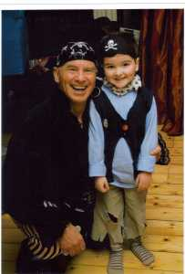 Showing Pirate Pete and Birthday Boy at Party
