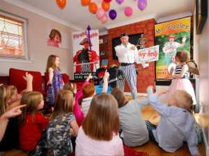 Children having fun with Children's Party Entertainer.