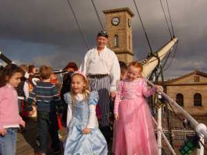 Princesses Having Fun Aboard The Tall Ship, Glasgow.